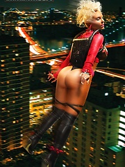 Check out Model Coco show her sexy posses for a model shoot. - Pics