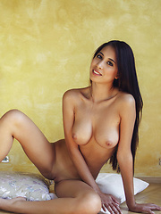 Paula Shy shows off her long and slender body with gorgeous breasts and smooth pussy - Pics