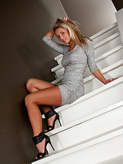 Grey dress and pink panties set from Kendra Rain