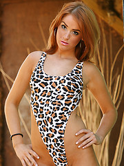 Check out this hottie Daphne in leopard body and without it