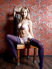 Blonde in lingerie