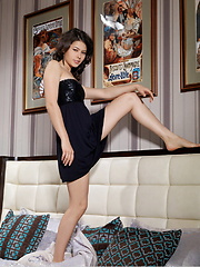Jackie mesmerizing beauty, coupled by her stunning physique and elegant confidence makes her more irresistable as she naughtily strips her black dress. - Pics