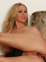 Julia Ann toys her tight asshole! - Pics