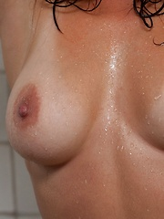 Aubrey Taylor - takes a hot shower and gets playful with her fingers - Pics