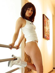 Nadia Vasi - just can't seem to keep her white panties on - Pics