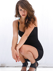 Malena Morgan on an impressive showcase   of her famed beauty, seductive   confidence, and erotic allure as she   flirts and strips her sexy black dress   in front of the camera. - Pics
