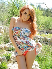 Lucy Anne: Cute Dress Outdoors