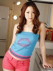 Asian Miki Asada seducing the cameras