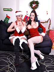 Santas Naughty Girls Pics - Jessica Jaymes and Sophie Dee - Pics