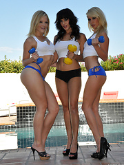 Alexis Texas with Sunny Leone and Monique Alexander