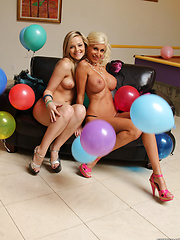 Alexis Texas and Puma Swede silly and sexy lesbian fun - Pics