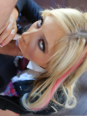 Tasha Reign swallows after a DP 2 on 1 - Pics