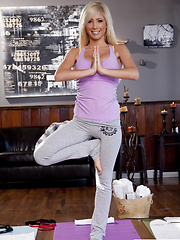 Tasha Reign loosens up with sexy naked yoga