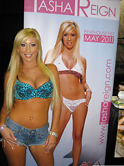 Tasha Reign appears in public at an event