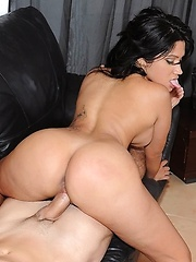 Hot cuban brunet babe huge ass sucks cock and bend over takes it dogy style - Pics