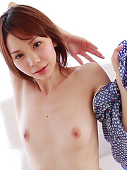 Japanese girls are famous for wearing cotton panties but Ryouko likes silky lingerie and enjoys hanging out topless or fully nude in her apartment. Sexy! - Pics