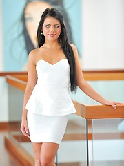 Arianna is gorgeous in white