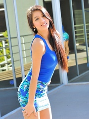 Megan is gorgeous in blue