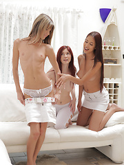Kattie Gold is joined by her lovers Paula and Gina Gerson for a horny lesbian threesome that leaves them all satisfied