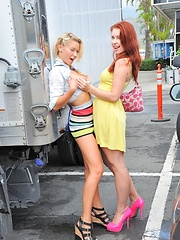 Lena and Melody Public Fun - Pics