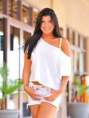 Romi is a vision in white