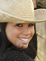 Meanwhile back at the ranch there's an adorable little cowgirl named Destiny getting naked - Pics