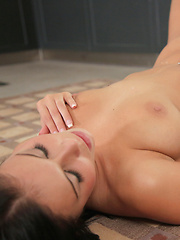 Sex craving coed Victoria Blaze cant wait and gets down and dirty with her man in the kitchen for a hot blowjob and fuck