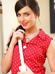 Beautiful Caroline in her red pokerdot dress - Pics
