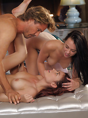 Beautiful redhead Christine joins X-Art and this sexy threesome - Pics