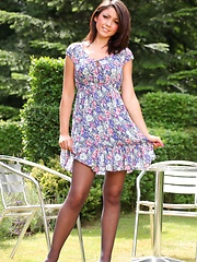 Bryoni-Kate looks sensational in her summer dress and white heels. - Pics