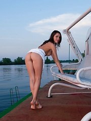 Semmi A strips naked by the lake