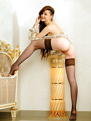 The gorgeous Emily Bloom, with her innocent yet naughty appeal, posing and teasing with her delicate assets - Pics