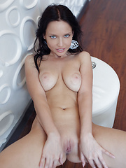 Well-toned slender body, smooth assets, and playful appeal of Marica A