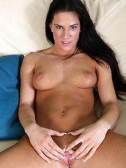 Watch Athina fuck her throbbing pussy with a dildo - Pics