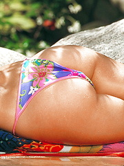 Erica Campbell - Laying be the pool getting sun - Pics