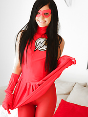 Catie Minx becomes The Flash a sexy superhero for Generation XXX - Pics