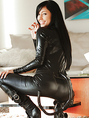 Cute Catie Minx channels her comic book here the villainous slut Catwoman - Pics