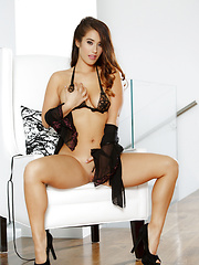 Eva Lovia shows you that sweet shaved pussy of hers - Pics