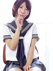 If you're like me and have a fetish for Japanese schoolgirl cosplay and wet cotton panties then you're in for a treat at CKE18. Nozomi is a hentai Japanese girl. - Pics