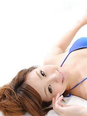 Ichika Nishimura Asian in blue bath suit has such apettizing body - Pics