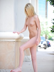 Riley strips down in a public place - Pics