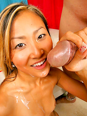 Chk out thes hot pics of 18 yo kara taking a cock to the mouth