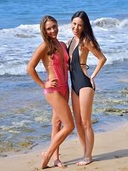 Mary and Aubrey Beach Bunnies - Pics