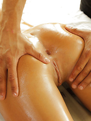 After a long day at work, all August needs a nice, full body massage - Pics