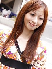 Cute Shiho Goto exposes her undies in public