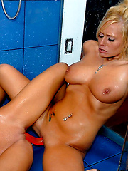 Amazing lesbian masterbation in the shower with angelina and her super hot perky titty friend - Pics
