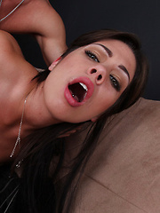 Young brunette girl fucks her friends brother for his big cock. - Pics