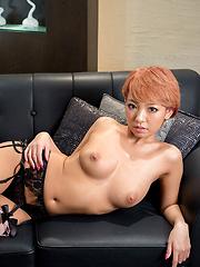 Hikari stroking her friend`s dick