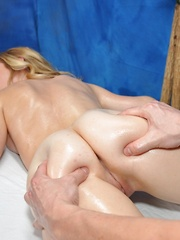 Taylor seduced and fucked hard by her massage therapist - Pics