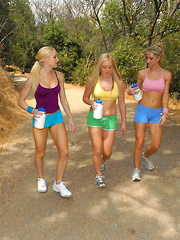 Check out these hot camping lesbian babe dildo fuck their hot pussies in these lesbo 3way pussy fuckfest pics and big hd movie